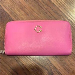 C. WONDER - Pink Zip Around Wallet